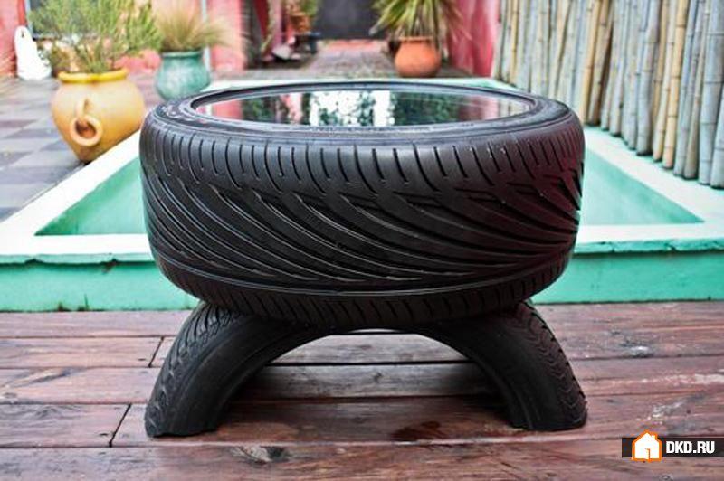 Мебель из колесных шин своими руками фото