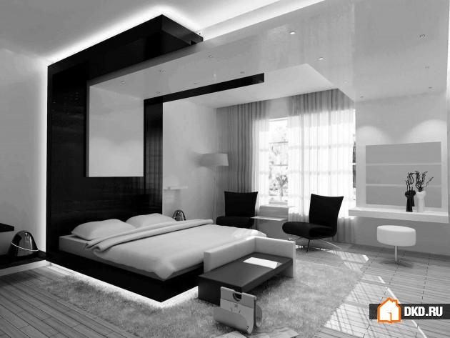 17 Вечных дизайнов современной черно-белой спальни