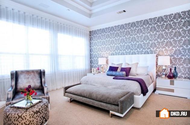 19 Простых, но красивых дизайнов обоев для любой спальни