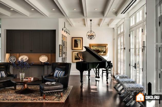 19 Удивительных идей декорирования гостиной - с участием пианино