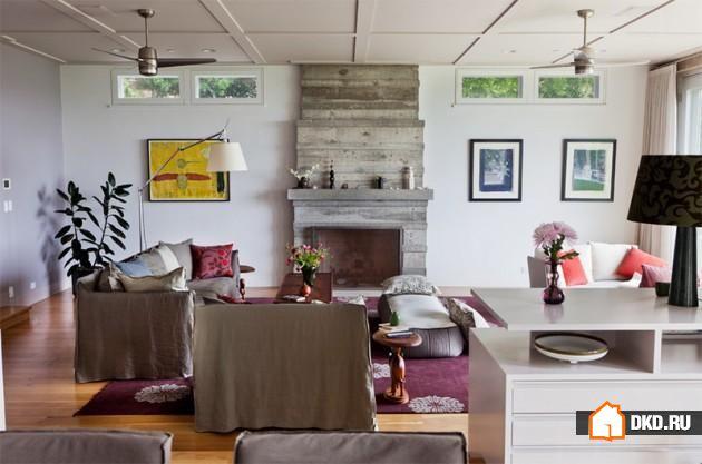 16 Дизайнов каминов из бетона, чтобы обогатить вид гостиной