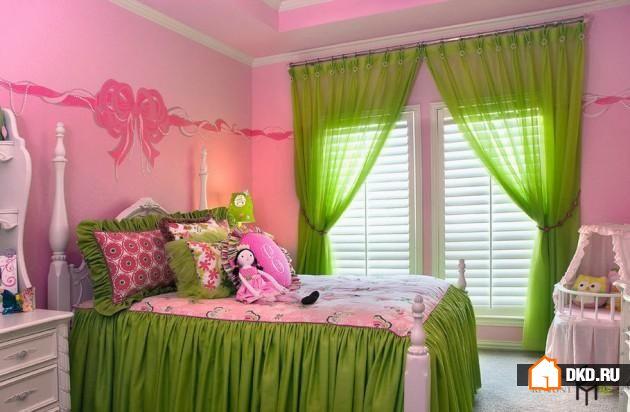 Зеленый и розовый в спальне – 17 очаровательных идей